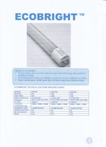T8 LED GLASS TUBE