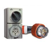 Schneider Angle Plug with Combination Switch Socket